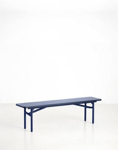 Banco madera azul | DIH La tienda de muebles online