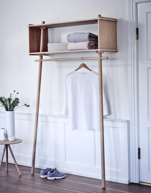 Perchero nordico de madera de roble   DIH La tienda de muebles online