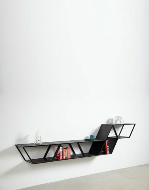 Estanteria de diseño Bridge en negro de Gejst. Construye tu estantería con este módulo singular de estilo nórdico. Versatilidad y elegancia para decorar. DIHWEB La tienda de muebles online