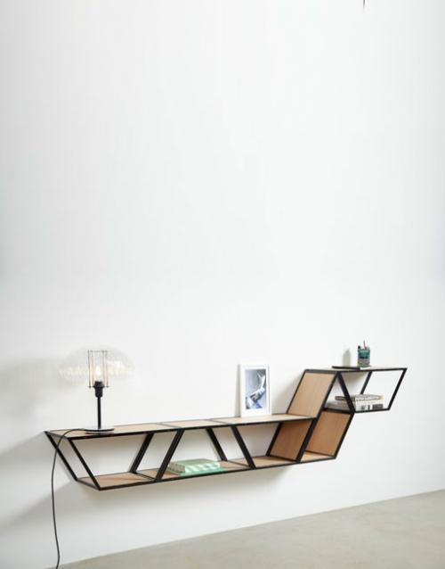 Estanterias de diseño Bridge de Gejst. Construye tu estantería con este módulo singular de estilo nórdico. Versatilidad y elegancia para decorar. DIHWEB La tienda de muebles online