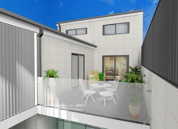 Terraza moderna proyecto designers in-home decorador de interiores y diseño low cost DIHWEB.COM Proyecto diseño interior online por 99€