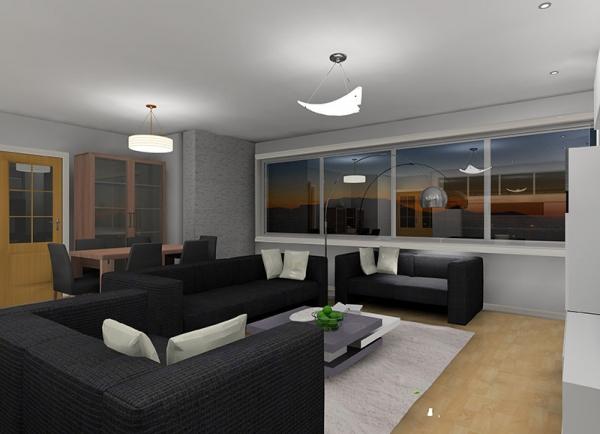 Proyecto decoración de interiores 3D para salón-comedor en Lleida. Un proyecto de Designers in-home para una familia joven con 3 hijos.