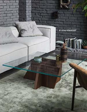 Mesa auxiliar de cristal QUARZO DIH   Tienda de decoración online. Productos de diseño y decoración, accesorios para el hogar, muebles de comedor y salón