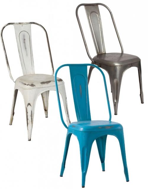 Sillas industriales de hierro. Mobiliario de diseño y decoración, accesorios para el hogar, muebles de comedor y salón en la tienda de Designers in-home