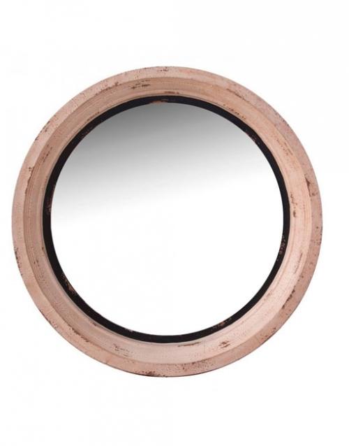 El espejo redondo de madera Tours es una pieza de líneas suaves y elegantes, perfecta para potenciar la luminosidad de tus interiores. Comprar en DIHWEB La tienda de muebles online