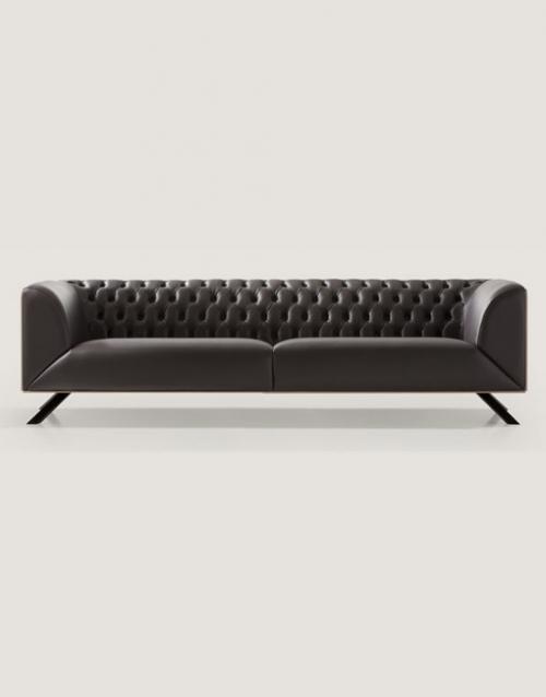 Sofas de piel modernos Ikon. Mobiliario y productos de diseño y accesorios para el hogar, muebles de comedor y salón en la tienda de Designers in-home
