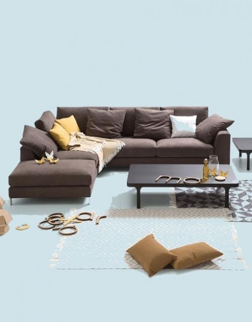 Sofas esquineros chaise longue. Mobiliario y productos de diseño y accesorios para el hogar, muebles de comedor y salón en la tienda de Designers in-home