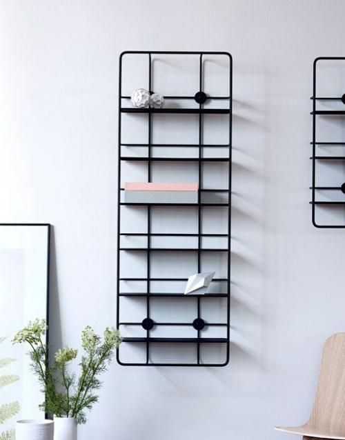 Estanteria pared negra | DIH La tienda de muebles online