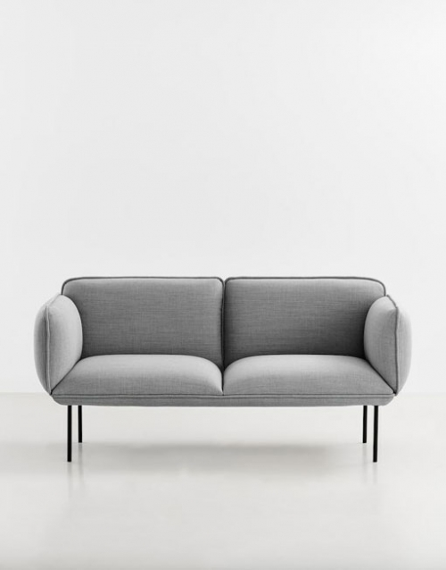 Sofas grises de estilo nórdico. Mobiliario y productos de diseño y accesorios para el hogar, muebles de comedor y salón en la tienda de Designers in-home