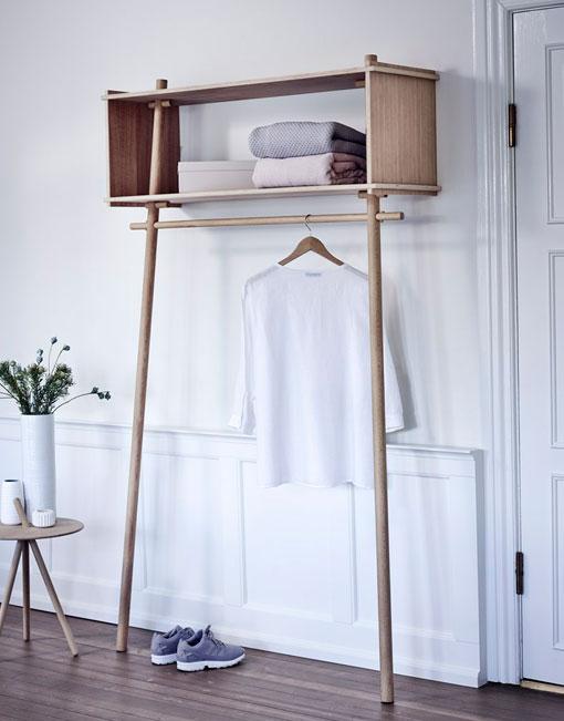 Perchero nordico de madera dih la tienda de muebles online - Perchero pared madera ...
