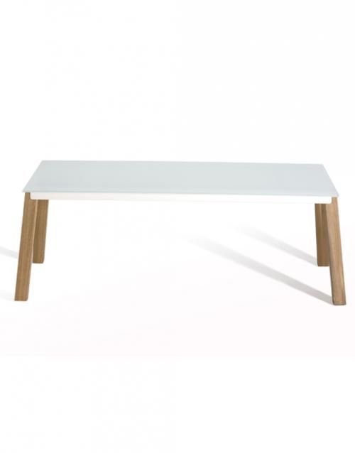 Mesa grande de comedor blanca Able de Capdell. Muebles de oficina y del hogar, diseño y decoración en la tienda de muebles de Designers in-home