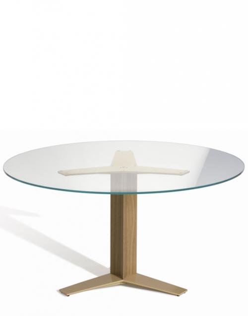 Mesa redonda de cristal Tri Star de Capdell. Muebles de oficina y del hogar, diseño y decoración en la tienda de muebles de Designers in-home