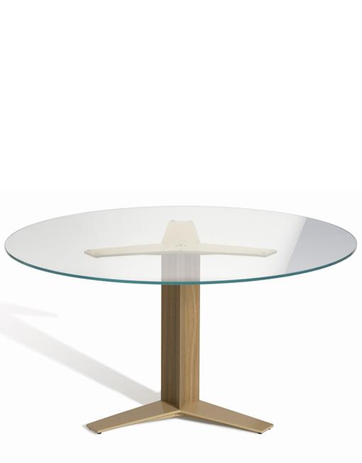 Mesa redonda de cristal. DIHWEB La tienda de muebles online