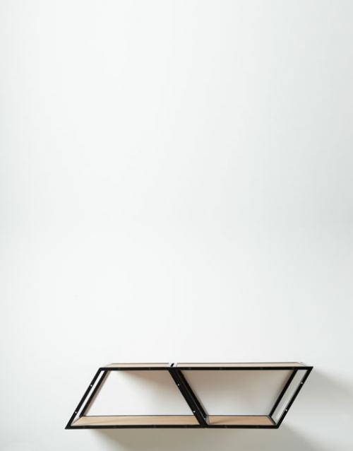 Estantería de metal BRIDGE 2 roble. DIHWEB.COM | Tienda de decoración online. Productos de diseño y decoración, accesorios para el hogar, muebles de comedor, salón, dormitorio y mobiliario de exterior