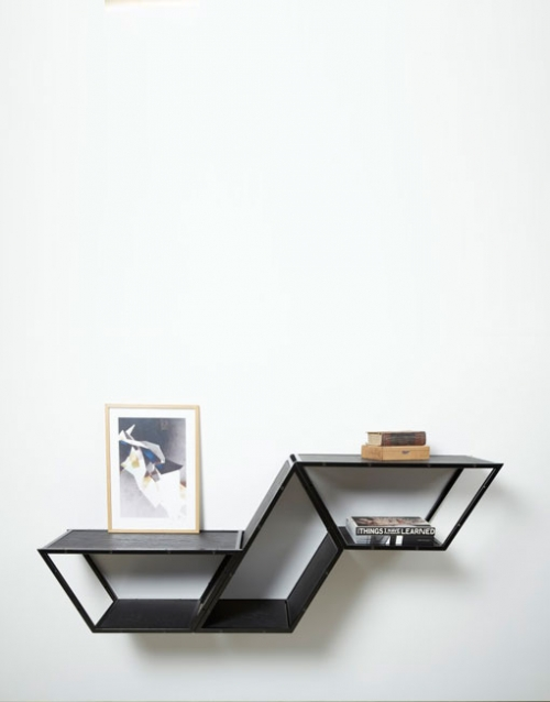 Estanteria modular negra Bridge de Gejst. Construye tu estantería con este módulo singular de estilo nórdico. Versatilidad y elegancia para el diseño interior. DIHWEB La tienda de muebles online