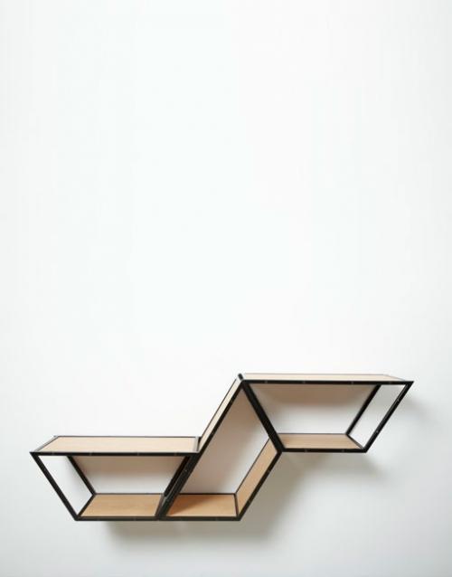 Estanterías de metal BRIDGE 3 roble. DIHWEB.COM | Tienda de decoración online. Productos de diseño y decoración, accesorios para el hogar, muebles de comedor, salón, dormitorio y mobiliario de exterior