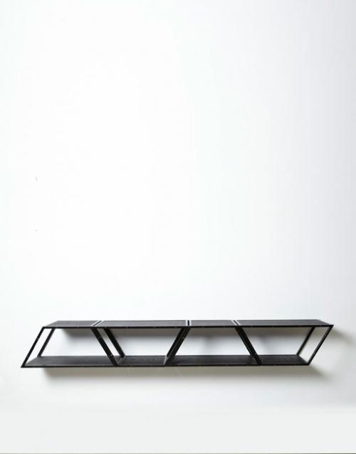 Estantería de metal BRIDGE 4 negro