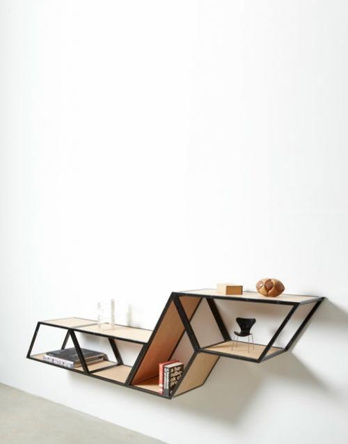 Estanterias originales Bridge de Gejst. Construye tu estantería con este módulo singular de estilo nórdico. Versatilidad y elegancia para decorar. DIHWEB La tienda de muebles online