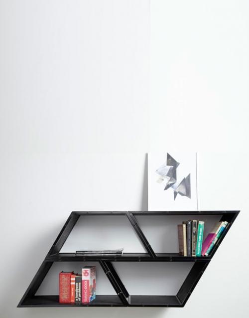 Estanteria salon Bridge negro de Gejst. Construye tu estantería con este módulo singular de estilo nórdico. Versatilidad y elegancia para decorar DIHWEB La tienda de muebles online