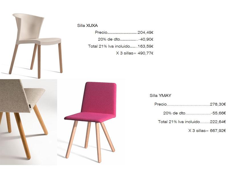 Lista de mobiliario, sillas, Designers in-home decorador de interiores y diseño low cost DIHWEB.COM