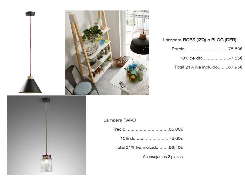 Lista de mobiliario, lámparas, Designers in-home decorador de interiores y diseño low cost DIHWEB.COM