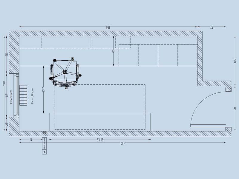 Planta de distribución, estudio taller de costura, Designers in-home decorador de interiores y diseño low cost DIHWEB.COM