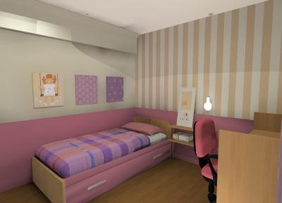 Habitación para niña Proyecto diseño interior online por 99€ por espacio. Decoración low cost. El primer servicio de interiorismo al alcance de todos desde la comodidad de tu casa.