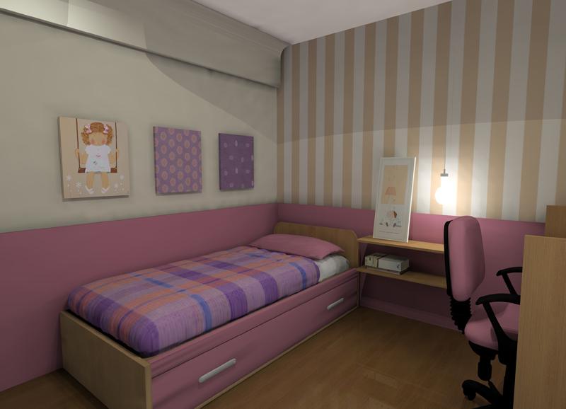 decoracin low cost habitacin para nia proyecto diseo interior online por uac por espacio