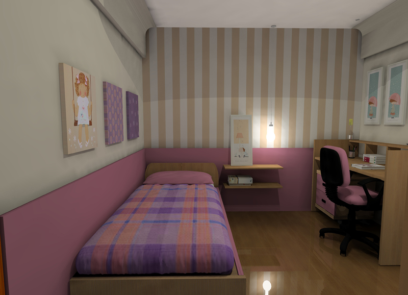 Habitaci n para ni a dih dise o de interiores online for Armario habitacion nina