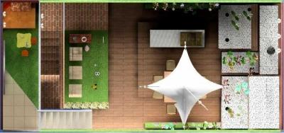 Jardín en casa adosada proyecto designers in-home decorador de interiores y diseño low cost DIHWEB.COM Proyecto diseño interior online por 99€