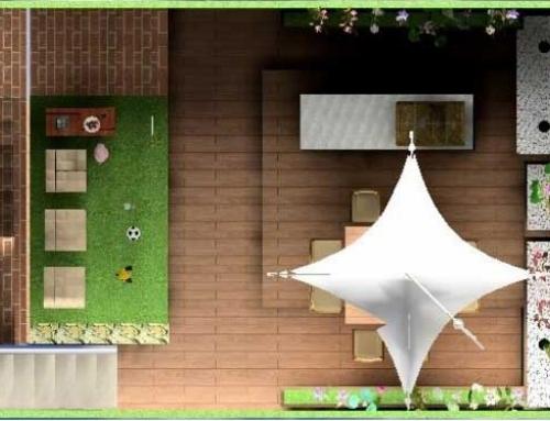 Jardín en casa adosada