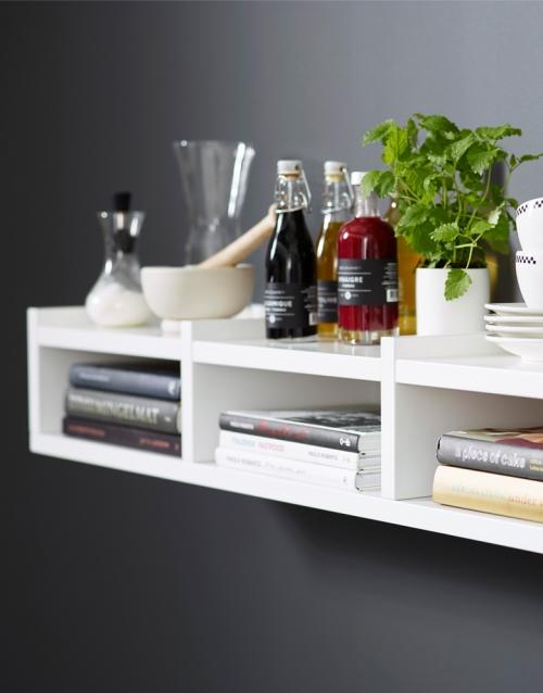 Estanteria blanca 1KM KA&S DIHWEB Tienda de decoración online. Productos de diseño y decoración, accesorios para el hogar, muebles de comedor y salón