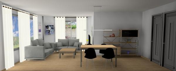 Diseño de salon con estilo industrial de Designers in-home para familia , la finalidad es la recuperación de un piso de los años 70's en buenas condiciones
