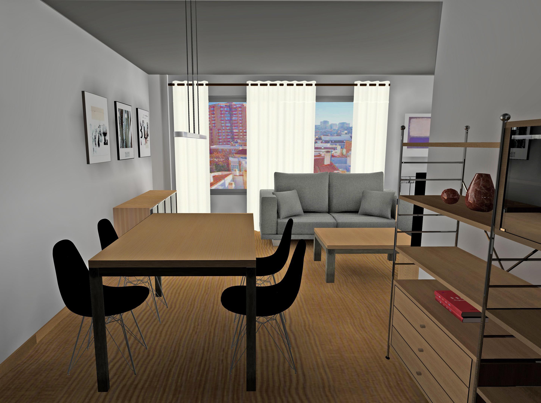 Diseño de salon con estilo industrial de Designers in-home para familia , la finalidad es la recuperación de un piso de los años 70's en buenas condiciones.