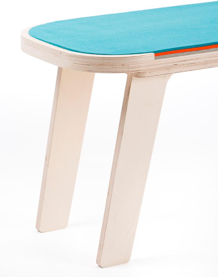 Banco de madera nórdico Slim DIHWEB - La tienda muebles online
