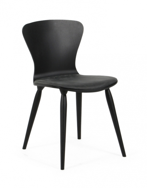 Silla lacada negra Wood. Designers in-home. Muebles de diseño y decoración, accesorios para el hogar. Encuentra estilo en tu tienda de decoración