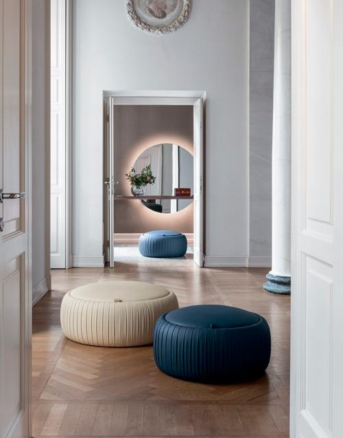 Pouf Plissè Designers in-home. Muebles de diseño y decoración, accesorios para el hogar. Encuentra estilo en tu tienda de decoración