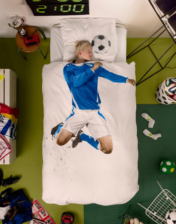 Funda Nórdica Futbolista de Snurk Designers in-home. Muebles de diseño y decoración, accesorios para el hogar. Encuentra estilo en tu tienda de decoración