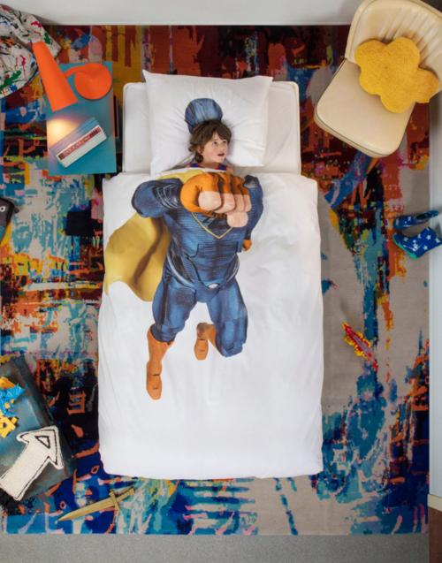 Funda Nórdica Superhéroe de Snurk Designers in-home. Muebles de diseño y decoración, accesorios para el hogar. Encuentra estilo en tu tienda de decoración